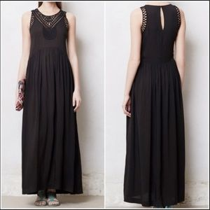 NEW NWT Anthropologie Black Maxi Small